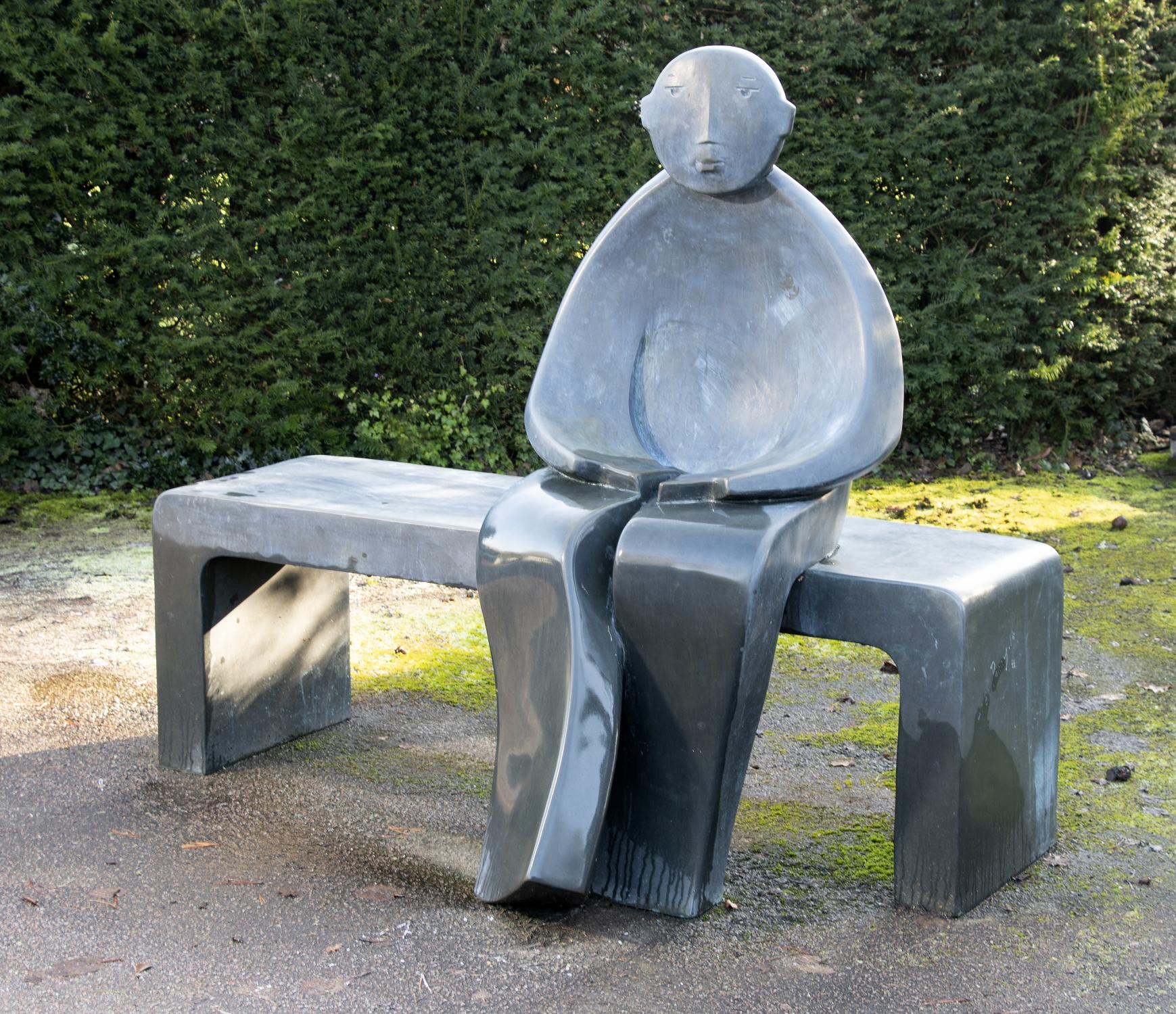 Lot 103: Giles Penny: man on Bench