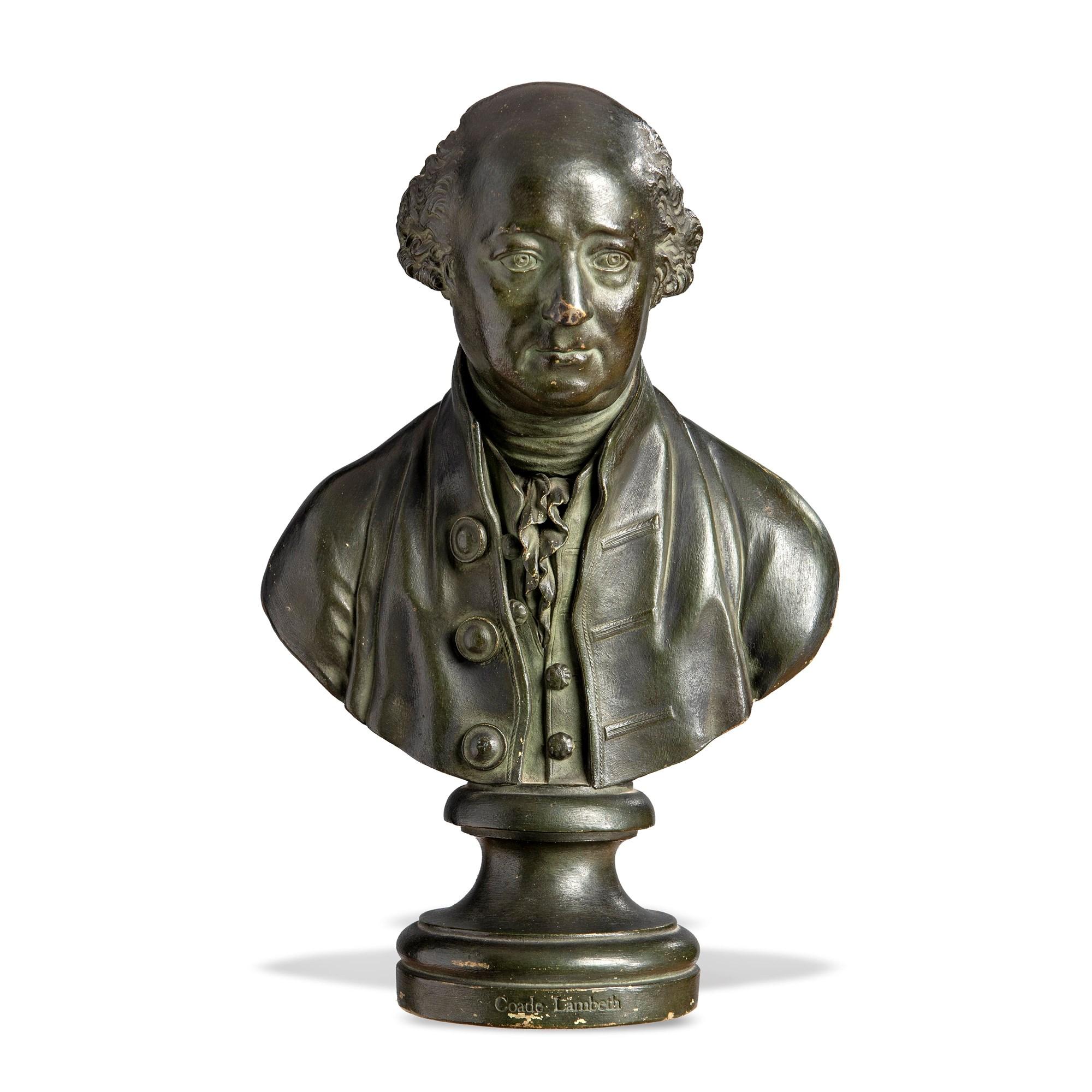 Lot 90:Coade stone bust of Gerard de Visme