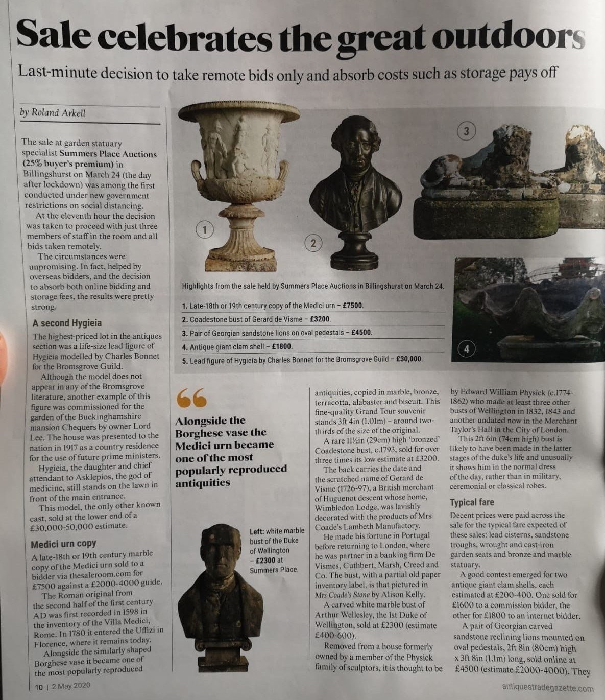 The Antiques Trade Gazette review of the March 2020 auction