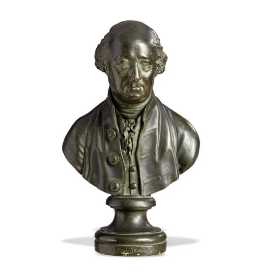 Coade stone bust of Gerard de Visme